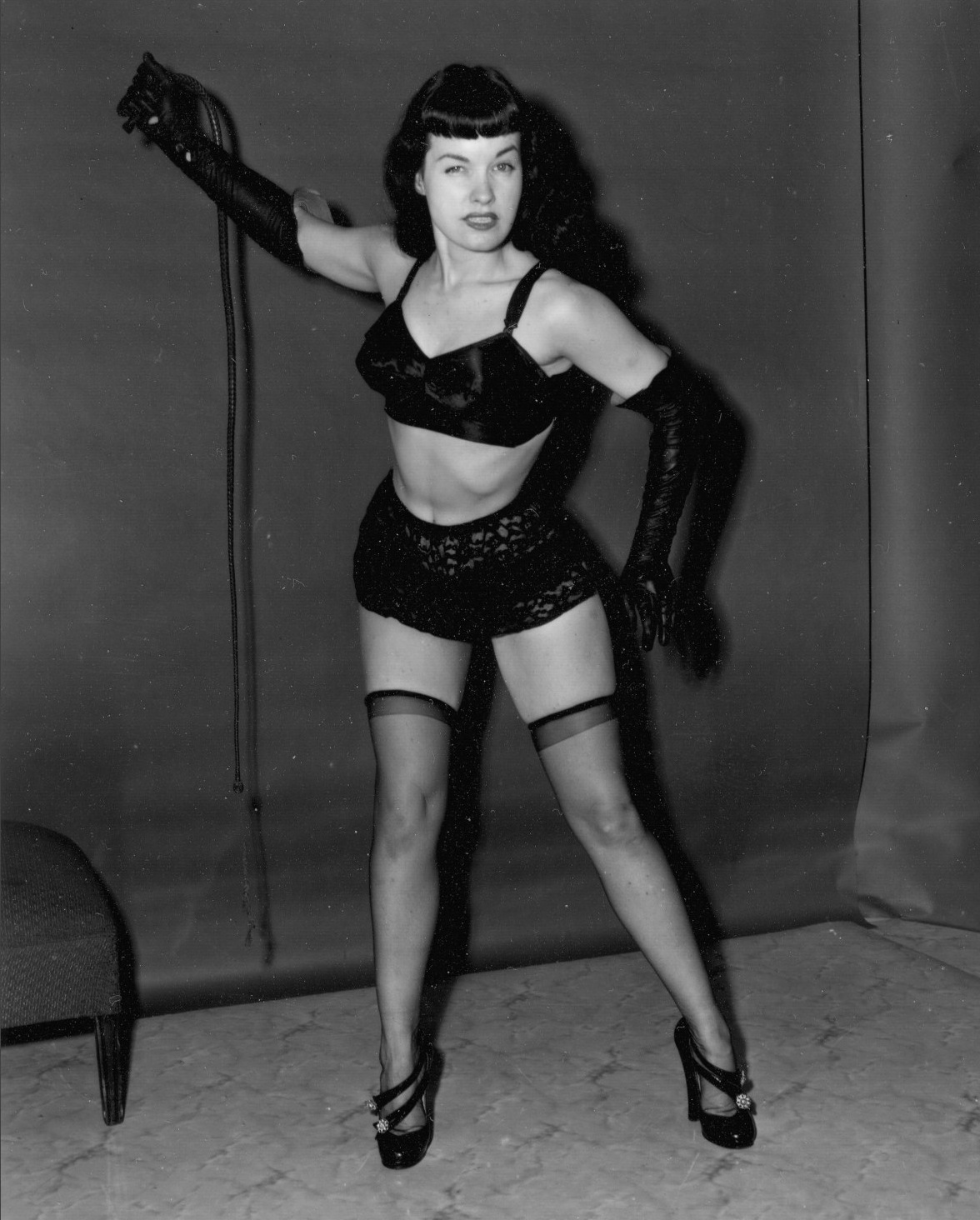 Betty Page Photos: Bettie-page-whip-photo1