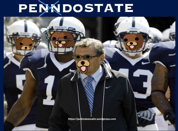 Penn State coach Joe Paterno stands with his team before he leads them onto the field their NCAA college football game against, Saturday, Sept. 5, 2009, in State College, Pa. Penn State won 31-7.  (AP Photo/Carolyn Kaster)