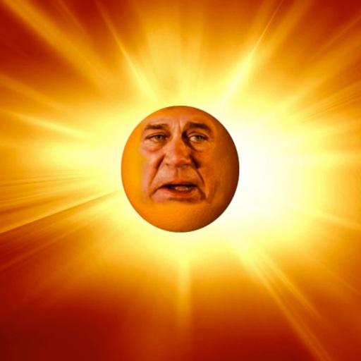 5160868-intense-sun-on-a-bright-orange-background