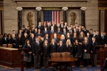 Speaker Boehner joins House of Representative pages on the House Floor for their official class photo. February 14, 2011.
